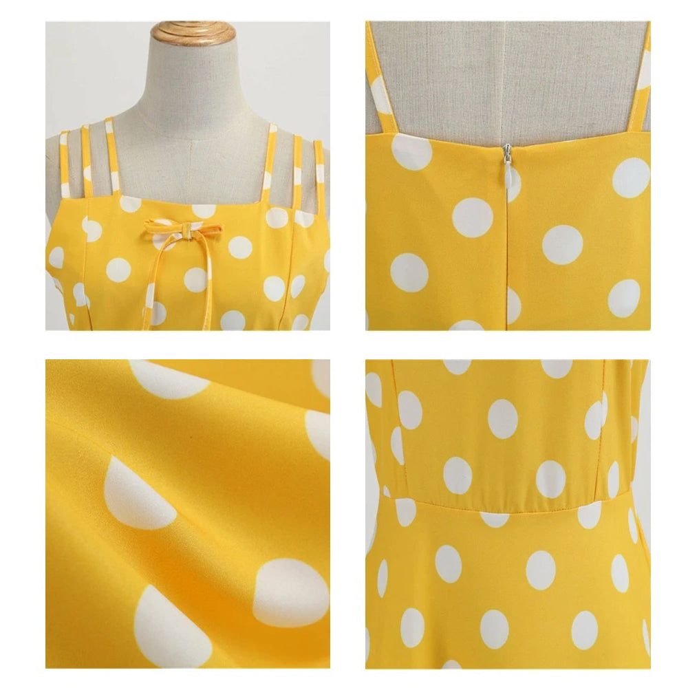 Yellow polka dot  dress forever 21