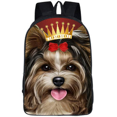 3D Yorkie Backpack|Backpacks for School|Laptop Backpack|College Backpack (2 colors)