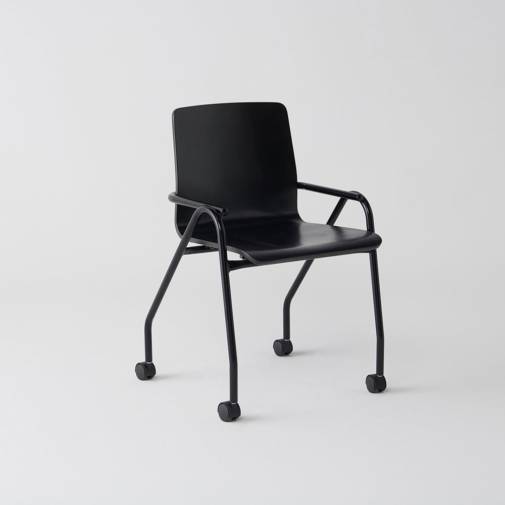 Full Hurdle Castor Chair by Dowel Jones