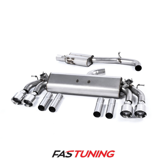 Audi 8V S3 Milltek Non Resonated Catback Exhaust - FAS Tuning