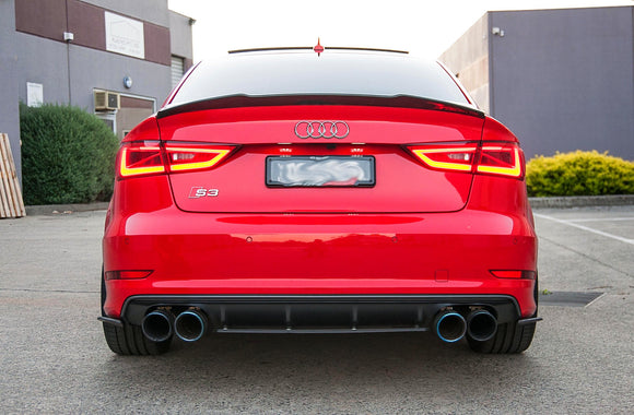 Audi 8V S3 PFL Flow Designs 3 Piece Rear Valence Set - FAS Tuning