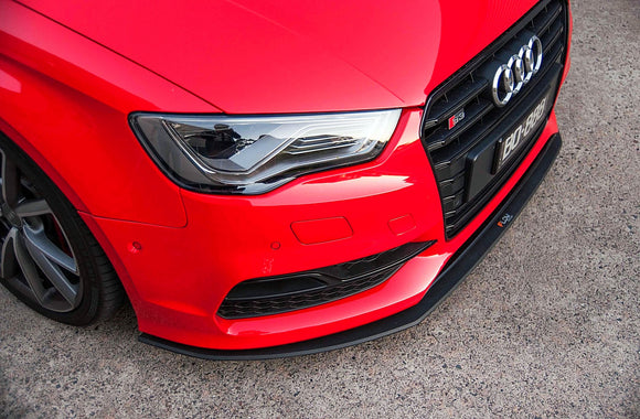 Audi 8V S3 Flow Designs PFL Front Splitter + Aero Spacer - FAS Tuning