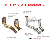 Fabspeed Primary Cat Bypass Downpipes BMW F8X M3/M4 - FAS Tuning