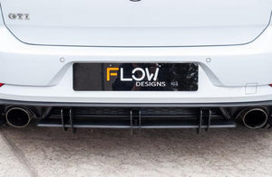 VW MK7.5 GTI Flow Designs Rear Valance & Flow Lock Diffuser Fins - FAS Tuning