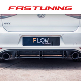 Flow Designs Rear Valance & Flow Lock Diffuser Fins VW MK7 GTI - FAS Tuning