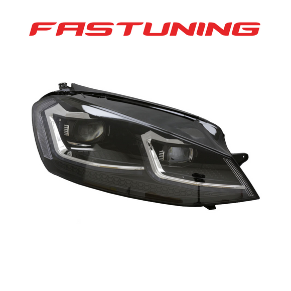 Helix MK7.5 Golf R Style Chrome Stripe LED Headlights VW MK7 Golf/GTI - FAS Tuning