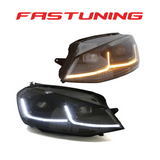 Helix MK7.5 Style Black Stripe LED Headlights VW MK7 Golf/GTI - FAS Tuning