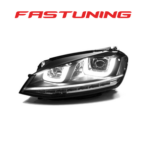 Helix MK7 Golf R Style Chrome Stripe Helix LED Headlights VW MK7 Golf/GTI - FAS Tuning