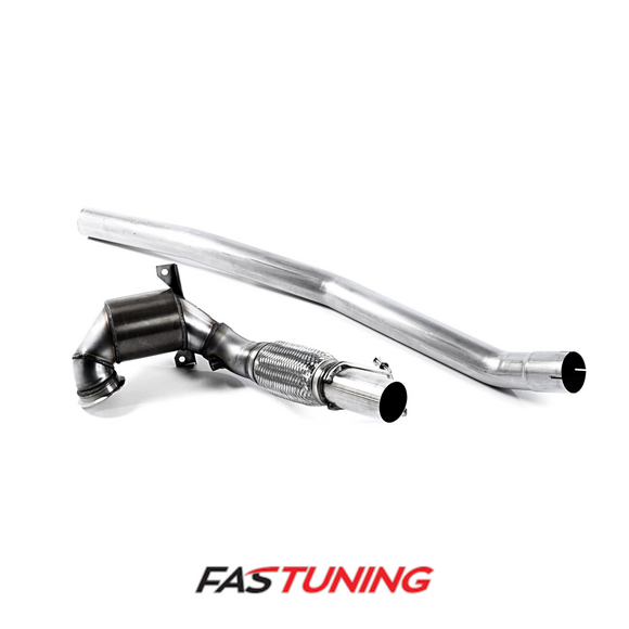 MQB AWD Milltek Cast Large Bore Downpipe and Hi-Flow Sports Cat - FAS Tuning