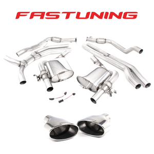 Milltek Non Resonated Catback Exhaust Audi B9 RS5 Sportback - FAS Tuning