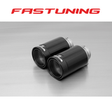 Remus 98mm Street Race Black Chrome Tips - FAS Tuning