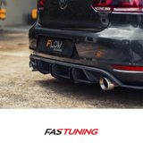 VW MK6 GTI Flow Designs Flow Lock Rear Diffuser - FAS Tuning