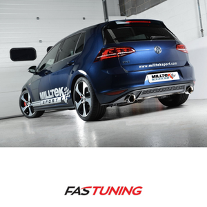 VW MK7 GTI Milltek Non Resonated Catback Exhaust - FAS Tuning