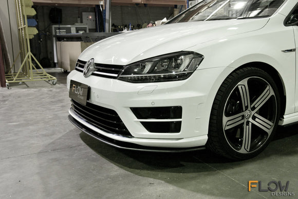 VW MK7 Golf R Flow Designs Splitter Bundle Set - FAS Tuning