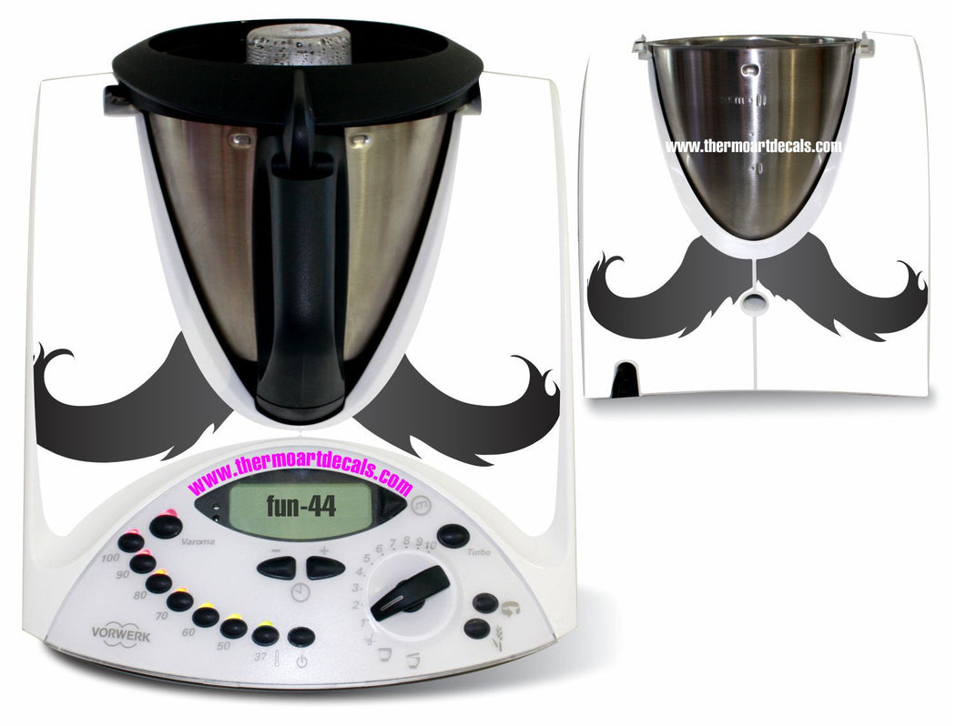 Moustache Fun 44 decal TM31 - the TM shop - Thermomix recipes, Thermomix cookbooks, Thermomix accessories