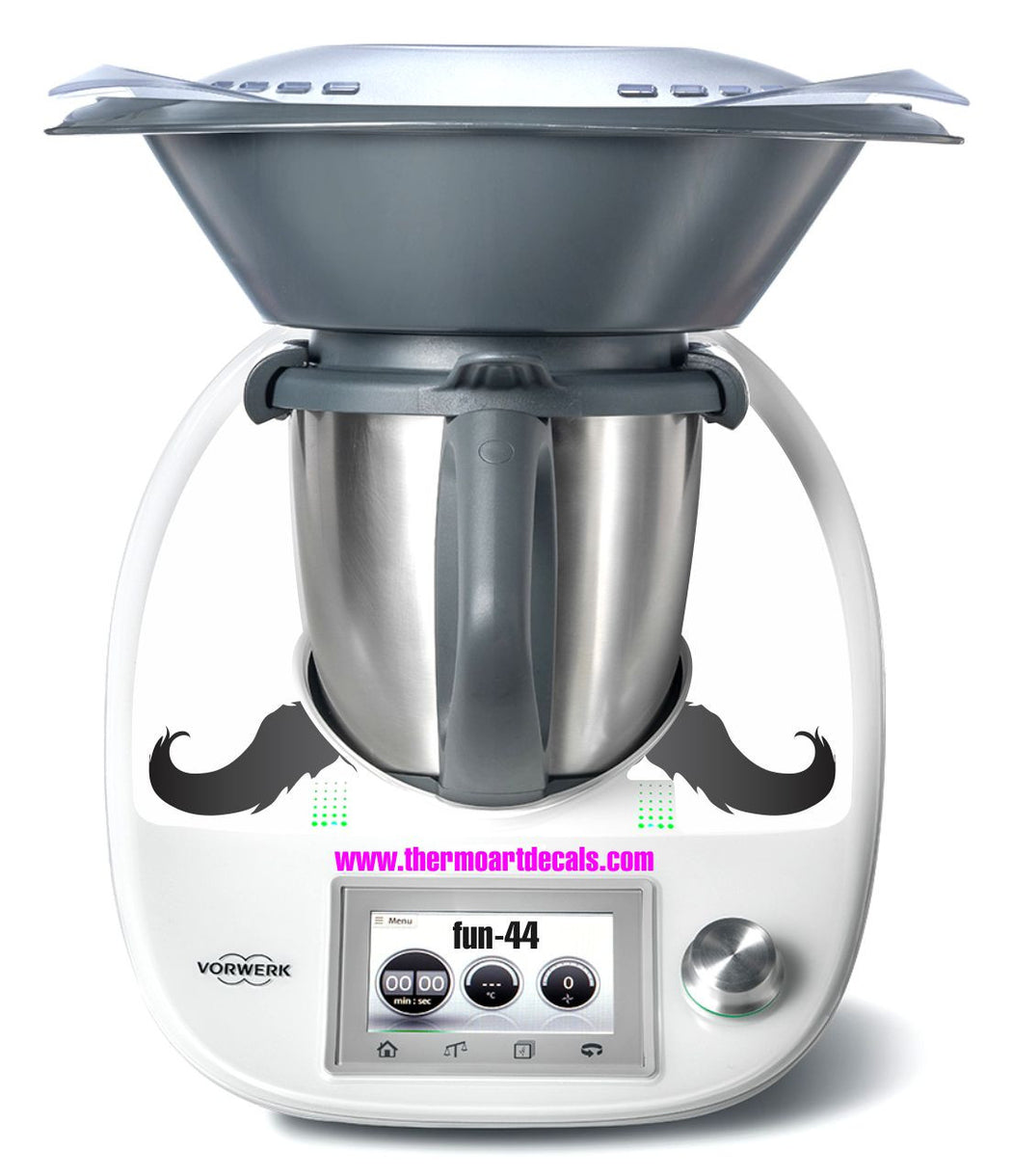Moustache Fun 44 decal TM5 - the TM shop - Thermomix recipes, Thermomix cookbooks, Thermomix accessories