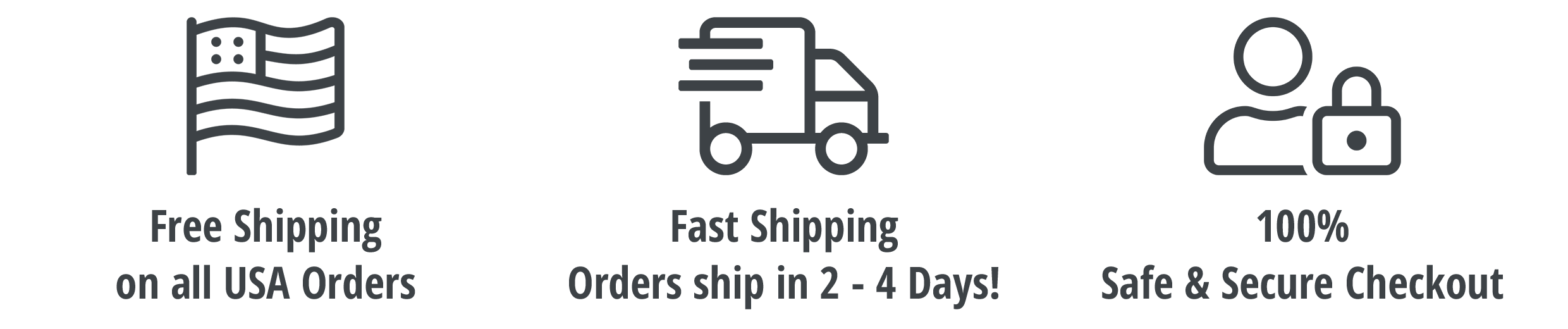 Free Shipping on all USA orders | Fast Shipping | 100% Safe and Secure Checkout