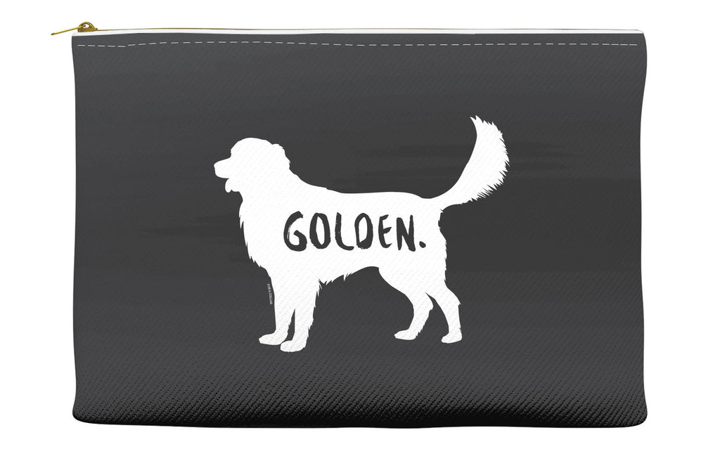 Black Golden Retriever Accessory Pouch