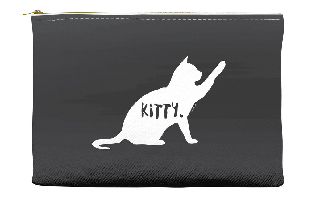 Black Kitty Accessory Pouch
