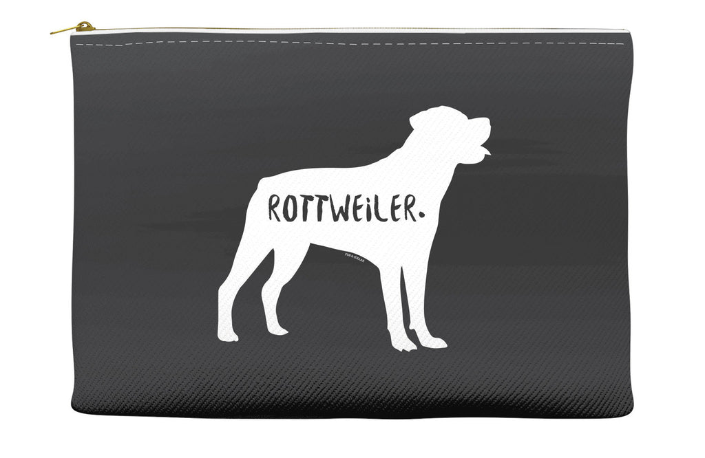 Black Rottweiler Accessory Pouch