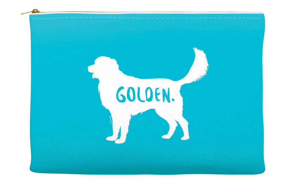 Blue Golden Retriever Accessory Pouch