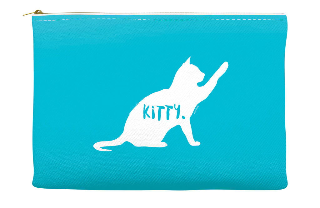 Blue Kitty Accessory Pouch
