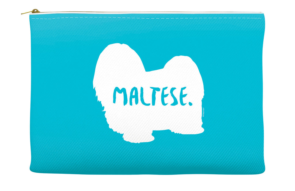 Blue Maltese Accessory Pouch
