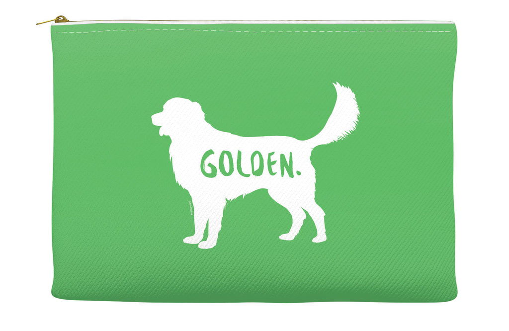 Green Golden Retriever Accessory Pouch