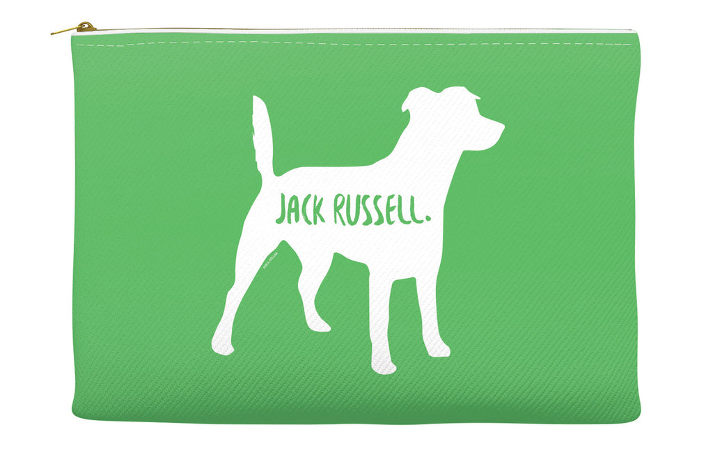 Green Jack Russell Accessory Pouch