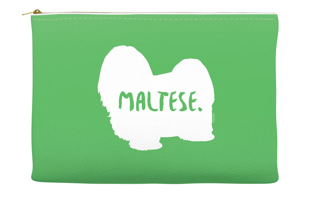 Green Maltese Accessory Pouch