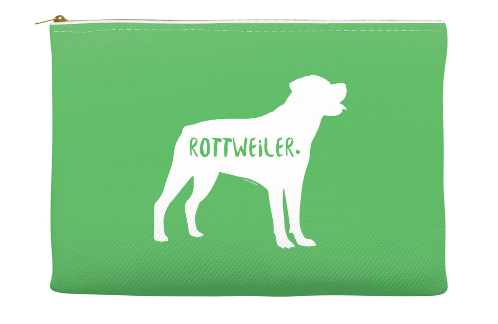 Green Rottweiler Accessory Pouch