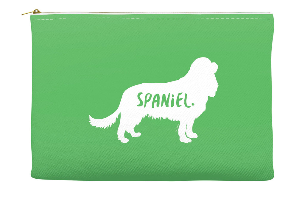 Green Spaniel Accessory Pouch