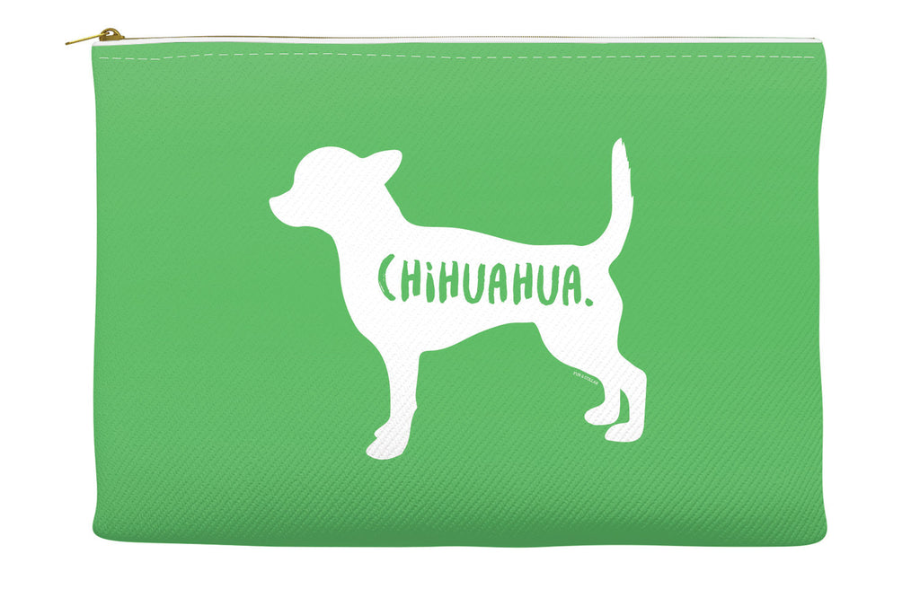 Green Chihuahua Accessory Pouch