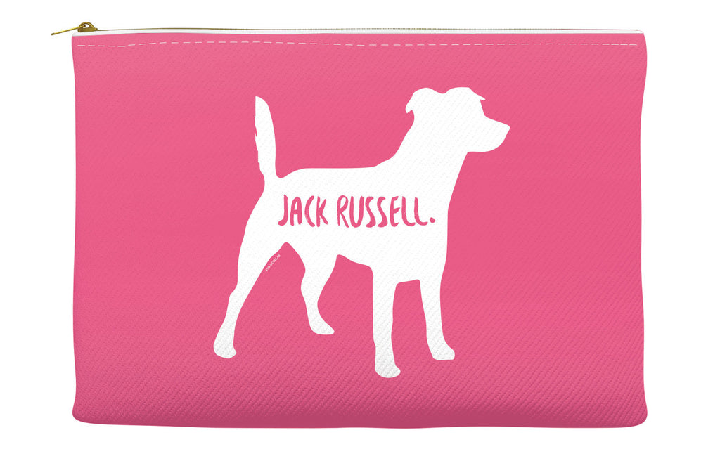 Pink Jack Russell Accessory Pouch