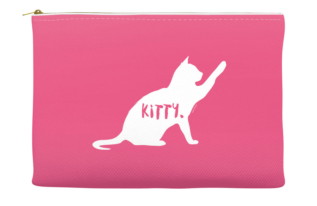 Pink Kitty Accessory Pouch
