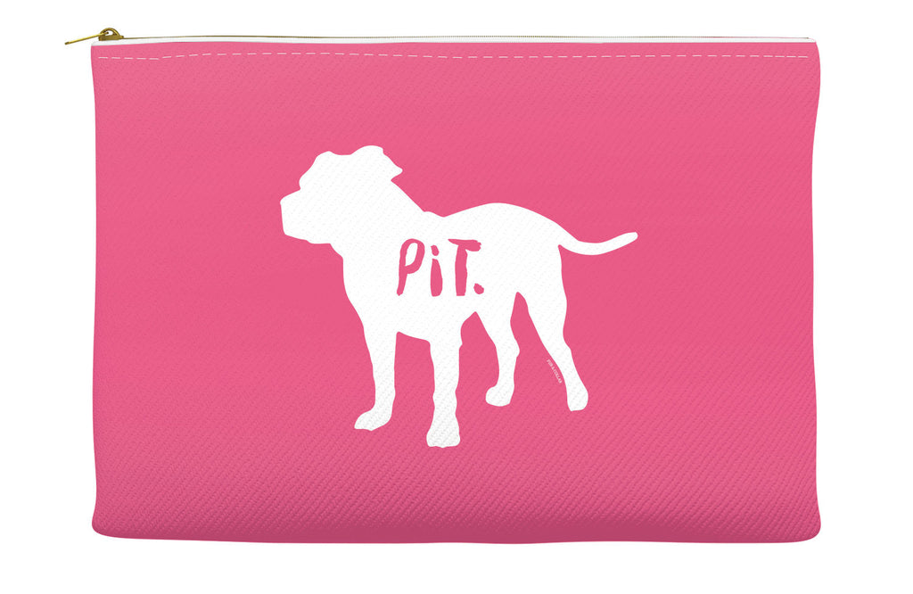 Pink Pitbull Accessory Pouch