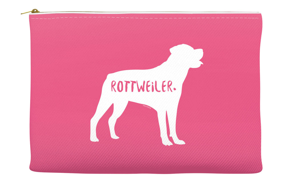 Pink Rottweiler Accessory Pouch