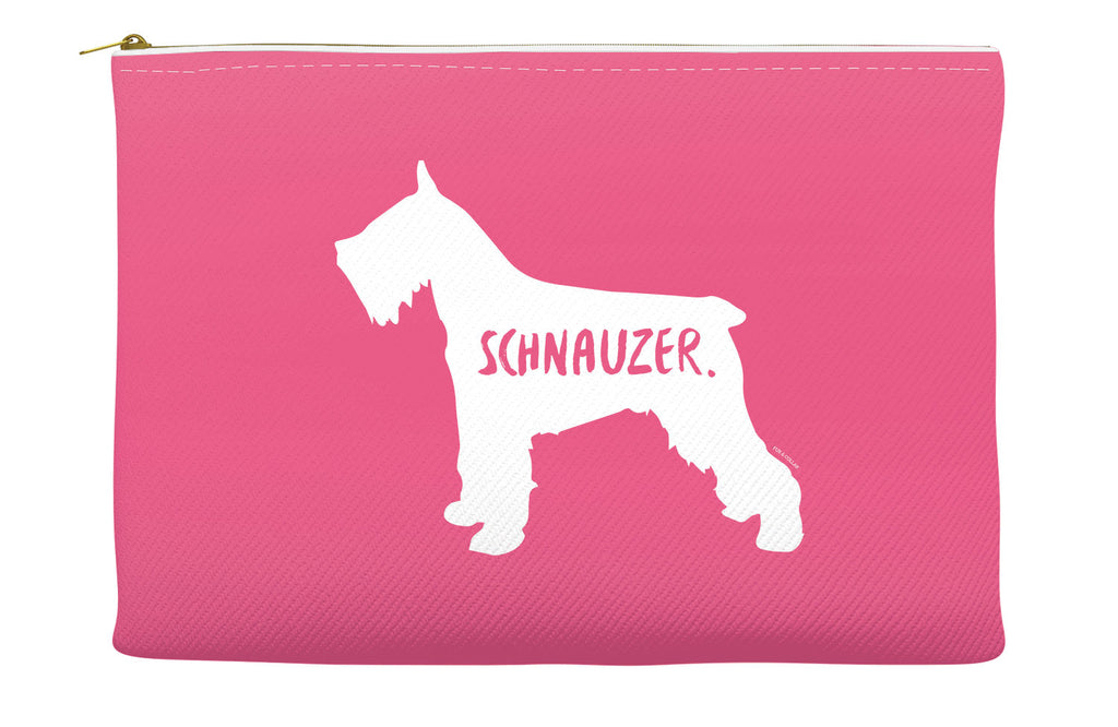 Pink Schnauzer Accessory Pouch