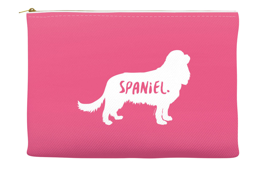 Pink Spaniel Accessory Pouch