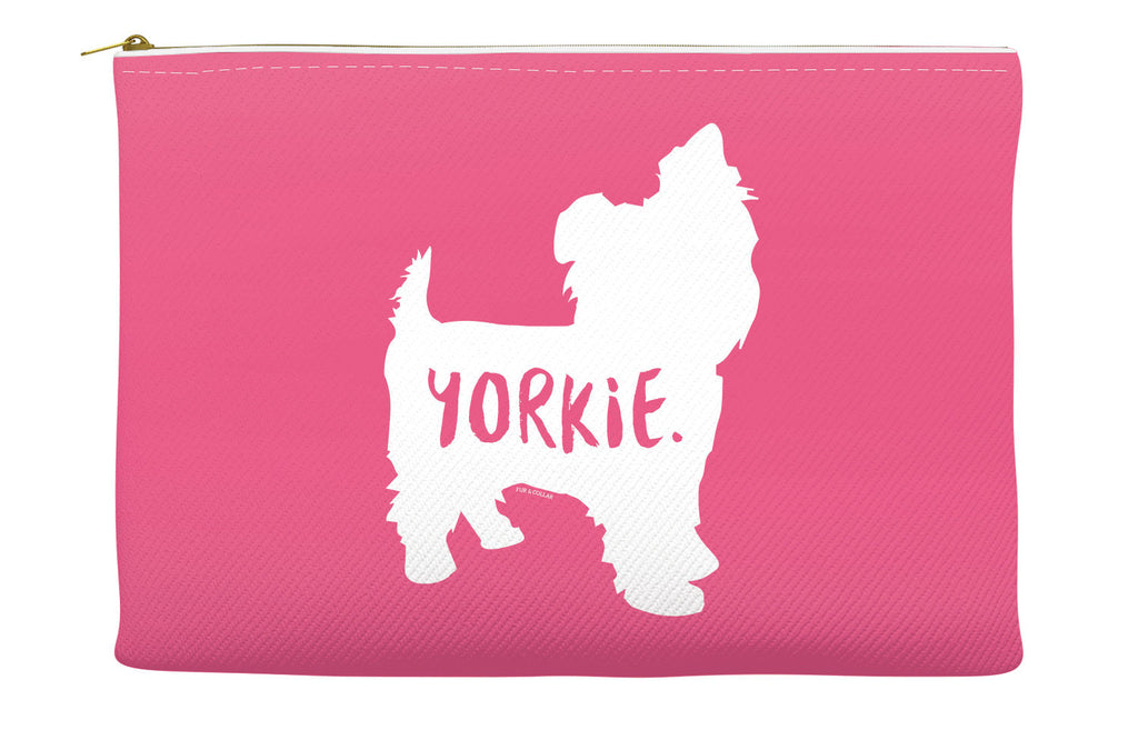 Pink Yorkie Accessory Pouch