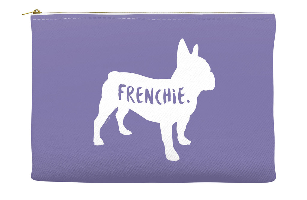 Purple French Bulldog Accessory Pouch