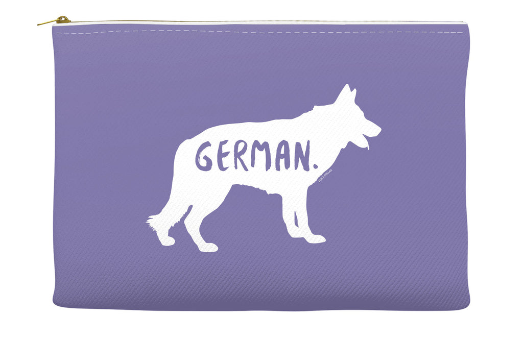 Purple German Shepherd Accessory Pouch