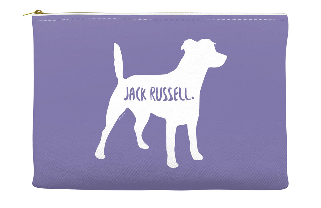 Purple Jack Russell Accessory Pouch