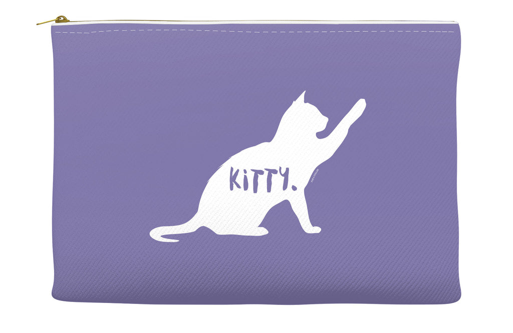 Purple Kitty Accessory Pouch