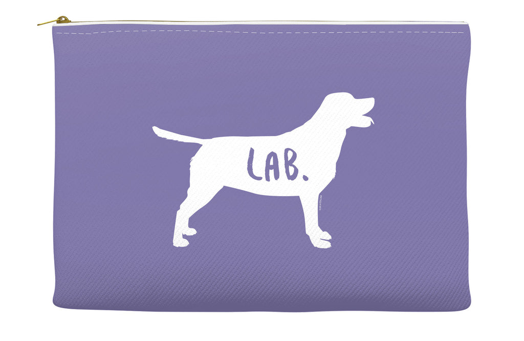 Purple Labrador Accessory Pouch