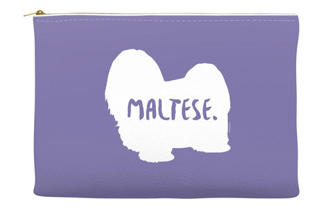 Purple Maltese Accessory Pouch