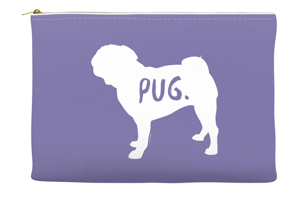 Purple Pug Accessory Pouch
