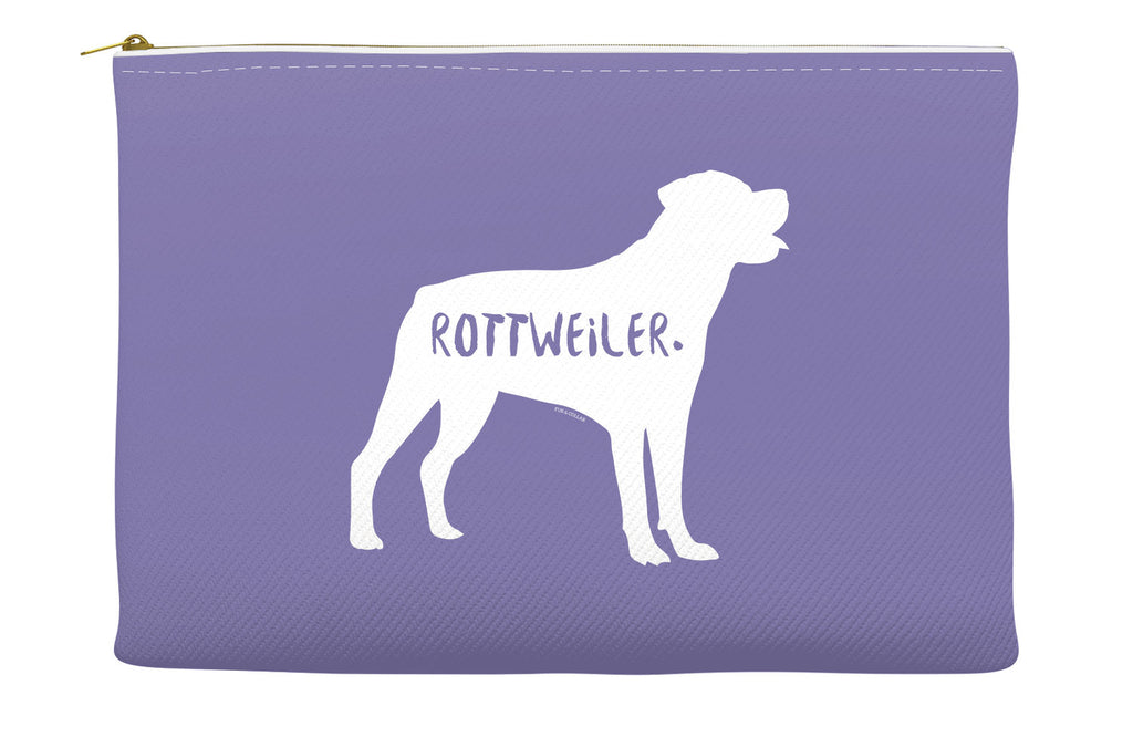 Purple Rottweiler Accessory Pouch