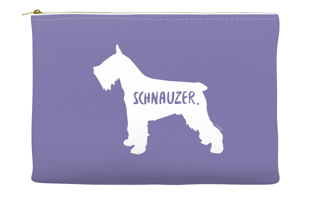 Purple Schnauzer Accessory Pouch