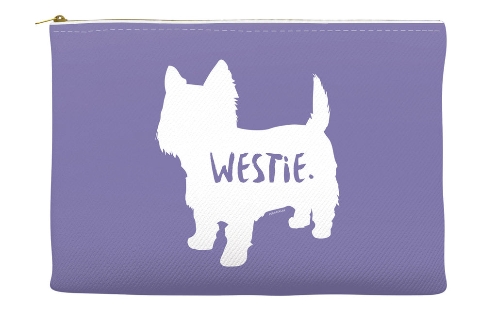 Purple Westie Accessory Pouch